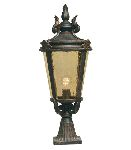 Elstead Baltimore BT3/L Large Outdoor Pedestal Lantern